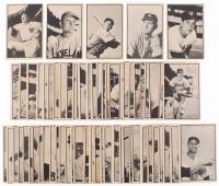 Complete Set of (65) 1953 Bowman Black & White Baseball Cards with #39 Casey Stengel, #28 Hoyt Wilhelm, #27 Bob Lemon, #1 Gus Bell, #15 Johnny Mize