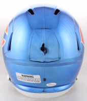 Brian Urlacher Signed Chicago Bears Blue Chrome Full-Size Speed Helmet with (5) Inscriptions (JSA COA) at PristineAuction.com