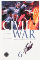 "Stan Lee Signed 2006 ""Civil War"" Issue #6 Marvel Comic Book (Lee COA)"