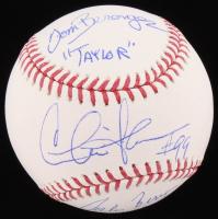 """Charlie Sheen, Tom Berenger & Corbin Bernsen Signed OML Baseball Inscribed """"Taylor"""" & """"Dorn"""" (Schwartz COA)"""
