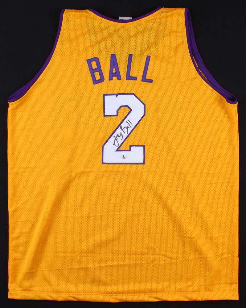 2a1b129ac Lonzo Ball Signed Los Angeles Lakers Jersey (Beckett COA)