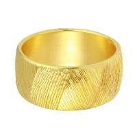 """Milor - Italian 14k Yellow Gold Embossed Criss-Cross Bangle Bracelet, 8"""""""