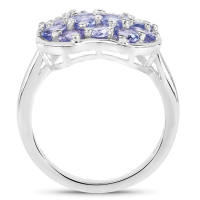 2.72 Carat Genuine Tanzanite .925 Sterling Silver Ring (size 8)