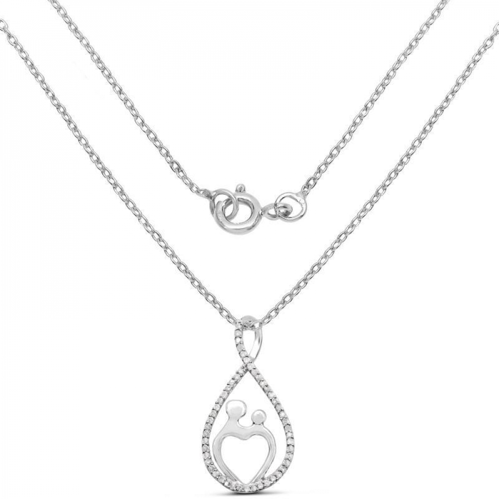 0.34 Carat Genuine White Diamond .925 Sterling Silver Pendant at PristineAuction.com