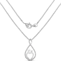 0.34 Carat Genuine White Diamond .925 Sterling Silver Pendant
