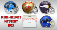 Schwartz Sports Football Hall of Famer Signed Mini Helmet Mystery Box - Series 9 (Limited to 75) at PristineAuction.com
