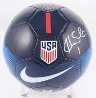 Hope Solo Signed Team USA Logo Soccer Ball (Schwartz COA)