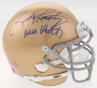 "Rudy Ruettiger Signed Notre Dame Fighting Irish Mini Helmet Inscribed ""Never Quit"" (Becektt COA)"