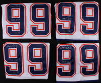 Set of (4) Wayne Gretzky Signed LE Oilers CCM Jerseys with Cup Championship Inscriptions - One Inscribed from Each Championship #/50 (Gretzky COA)