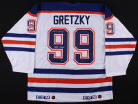 Set of (4) Wayne Gretzky Signed LE Oilers CCM Jerseys with Cup Championship Inscriptions - One Inscribed from Each Championship #/50 (Gretzky COA) at PristineAuction.com