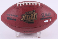 "Tom Brady & Eli Manning Signed LE Patriots Super Bowl XLII Game-Used Football Inscribed ""Super Bowl XLII MVP"" (PSA COA & Steiner COA) at PristineAuction.com"