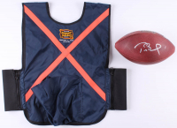 Tom Brady Signed Patriots LE Super Bowl XXXVIII Game-Used Football with Super Bowl XXXVIII Ball Boy Vest (PSA COA & TriStar Hologram) at PristineAuction.com