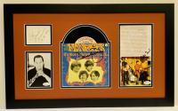 The Monkees 15x24 Custom Framed Photo & Record Display Signed by (4) with Davy Jones, Michael Nesmith, Peter Tork & Micky Dolenz (JSA COA)