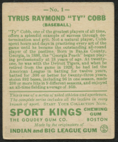 1933 Sport Kings #1 Ty Cobb at PristineAuction.com