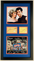 """Grease"" 16x28 Custom Framed Photo & Cut Display Signed by (10) with John Travolta, Olivia Newton-John, Barry Pearl, Didi Conn, Dinah Manoff (PSA LOA & JSA COA)"