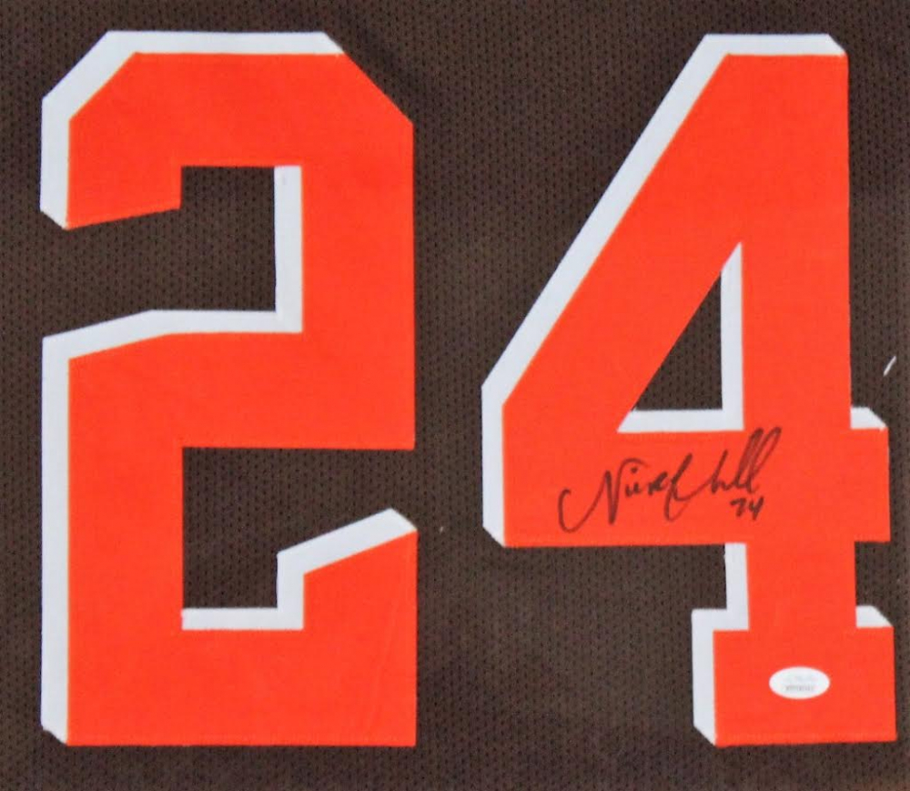 335dc6a8d Nick Chubb Signed Cleveland Browns 35x43 Custom Framed Jersey (JSA COA) at  PristineAuction.