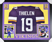 Adam Thielen Signed Minnesota Vikings 35x43 Custom Framed Jersey (TSE COA) at PristineAuction.com