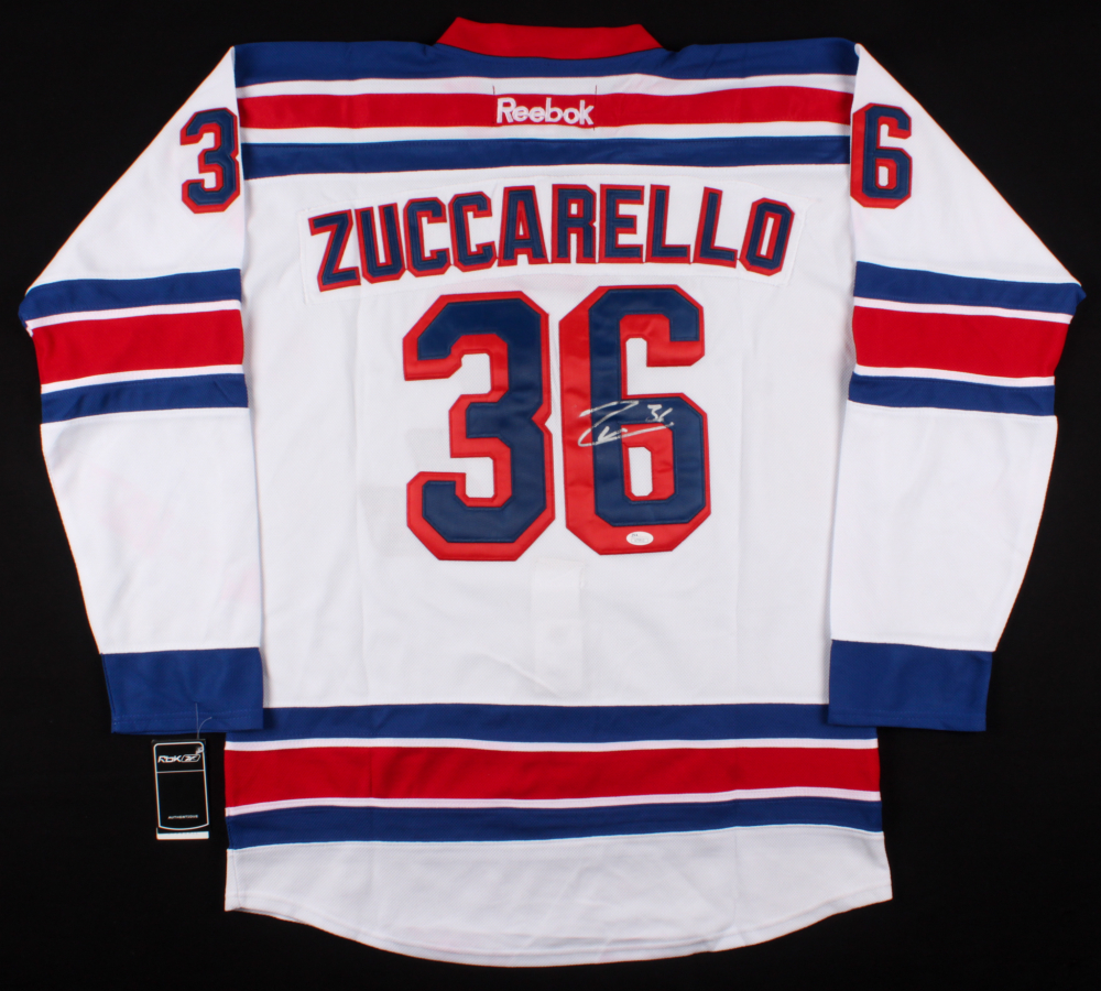 36501c668 Mats Zuccarello Signed New York Rangers Reebok Jersey (JSA COA) at  PristineAuction.com