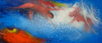 "Jose Alvarez Signed ""Paradise"" 15x30.5 Original Oil Painting on Canvas (PA LOA) at PristineAuction.com"