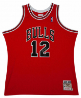 Michael Jordan Signed Mitchell & Ness #12 Authentic Chicago Bulls Jersey (UDA COA)