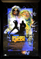 "Harrison Ford Signed ""Star Wars: Return of the Jedi"" 28x40 Custom Framed Poster (Radtke COA) at PristineAuction.com"
