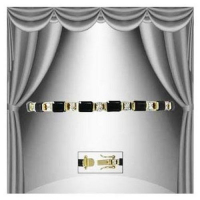 12.37 CT Black Onyx & Diamond Designer Bracelet
