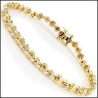0.57 CT Diamond Designer Heart Bracelet