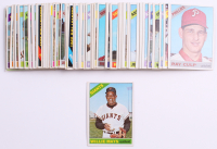 Lot of (62) 1966 Topps Baseball Cards with #1 Willie Mays