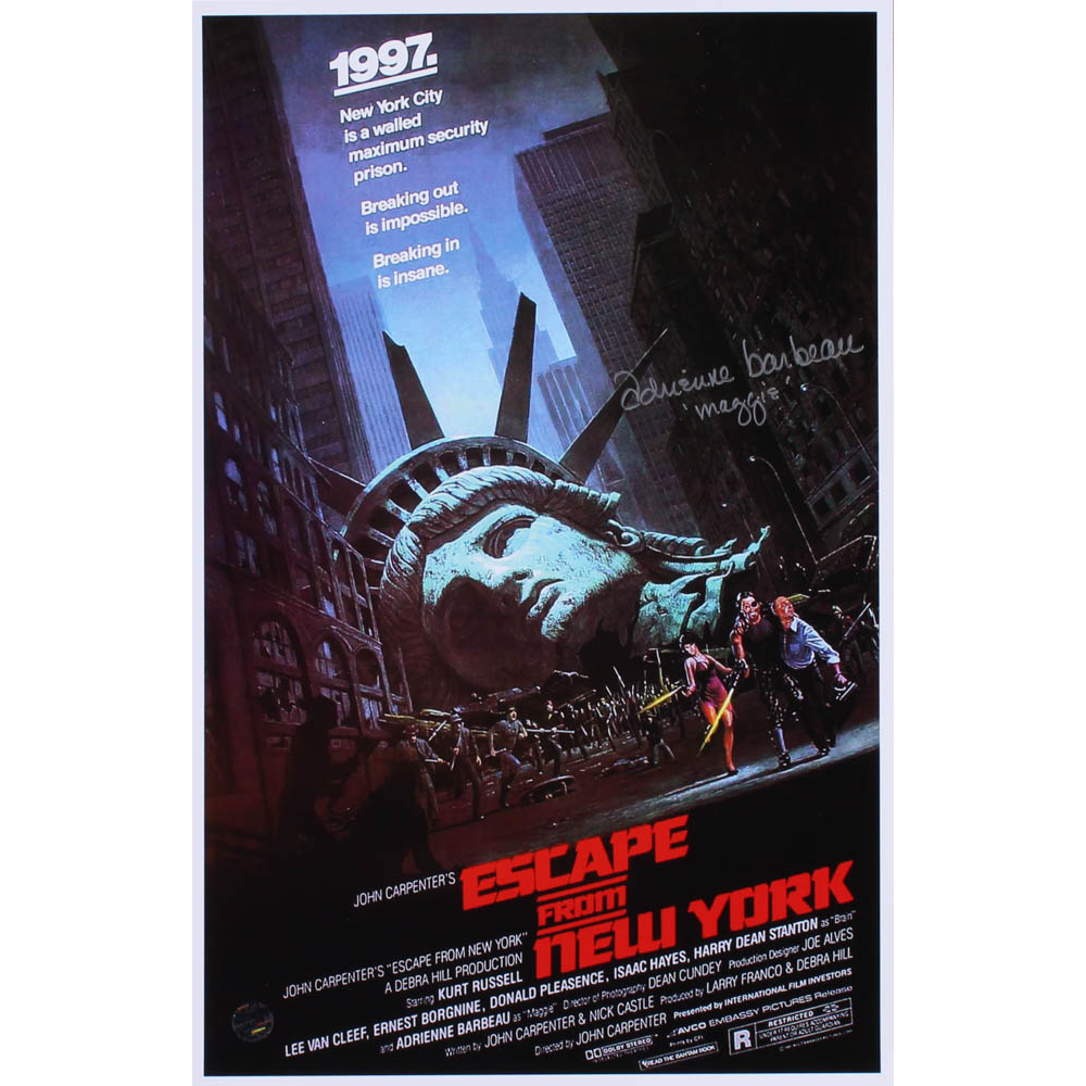 "Adrienne Barbeau Signed ""Escape From New York"" 12x18 Movie"