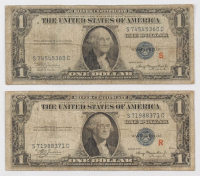 R & S Experimental Pair of 1935-A $1 One Dollar Silver Certificate Bank Notes at PristineAuction.com