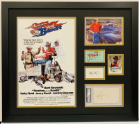 """Smokey And The Bandit"" 23x26 Custom Framed Cut Display Signed by (4) with Burt Reynolds, Jerry Reed, Sally Field & Jackie Gleason (Beckett COA & JSA COA)"