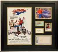 """Smokey And The Bandit"" 23x26 Custom Framed Cut Display Signed by (4) with Burt Reynolds, Jerry Reed, Sally Field & Jackie Gleason (Beckett COA & JSA COA)"