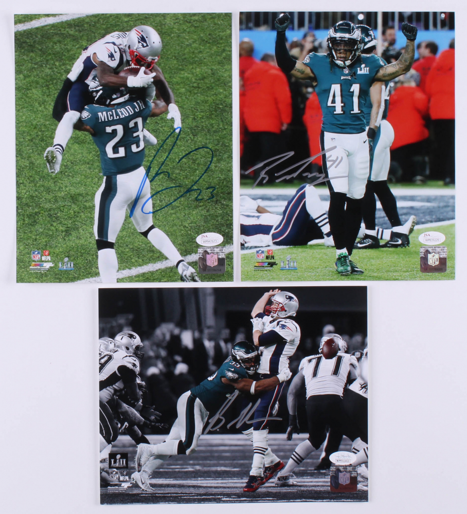 7037cbb6f Lot of (3) Signed Philadelphia Eagles 8x10 Photos with Rodney McLeod