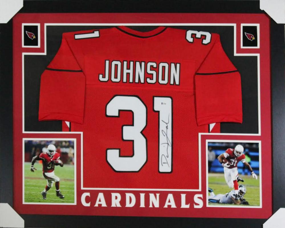 9191667e713b David Johnson Signed Arizona Cardinals 35x43 Custom Framed Jersey (Beckett  Hologram) at PristineAuction.