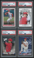 Lot of (4) PSA Graded 9 Shohei Ohtani Rookie Cards with 2018 Donruss #281A, 2018 Leaf Rookie Achievement #RA01, 2018 Topps Salute Series 2 #S54, 2018 Topps #700 RC at PristineAuction.com