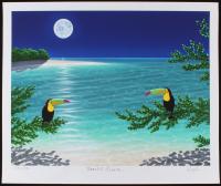 "Dan Mackin - ""Moonlit Lovers"" Signed Limited Edition 20x24 Fine Art Giclee #/275 (Mackin COA & PA LOA)"
