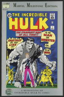 "Stan Lee Signed 1991 ""Marvel Milestone Edition: Incredible Hulk"" Issue #1 Marvel Comic Book (Lee COA)"