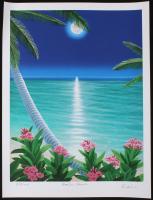 "Dan Mackin - ""Moonlit Flowers"" Signed Limited Edition 19x25 Fine Art Giclee #/275 (Mackin COA & PA LOA)"