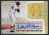 2004 Ultimate Collection Signature Numbers Patch #WM Willie McCovey / 44
