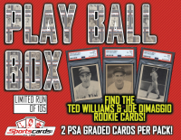 "1939 & 1940 ""Play Ball Box"" (2) PSA Graded Cards Per Box! A HOF'er or PSA 6 in EVERY Mystery Box! at PristineAuction.com"