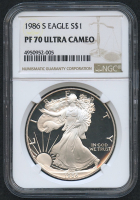 1986-S American Silver Eagle $1 One-Dollar Coin - Proof (NGC PF 70 Ultra Cameo)