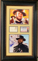 "Clint Eastwood, Eli Wallach & Lee Van Cleef Signed ""The Good, The Bad & The Ugly"" 22x34.5 Custom Framed Display Inscribed ""Best Wishes"" (JSA COA, PSA COA & JSA LOA)"