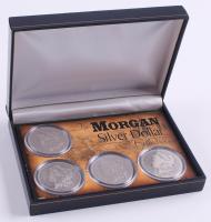 Morgan Silver Dollar Collection with 1879, 1882, 1891, & 1900-O & Display Case