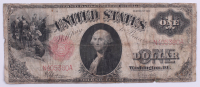 1917 $1 One Dollar Legal Tender Red Seal Large Size Bank Note