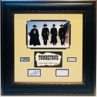 Tombstone 25x25 Custom Framed Display Signed by (4) with Kurt Russell, Sam Elliott, Val Kilmer & Bill Paxton  (JSA COA) at PristineAuction.com