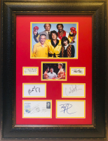"""Rocky"" 24x31 Custom Framed Photo Display Signed by (6) with Burgess Meredith, Sylvester Stallone, Burt Young, Carl Weathers, Dolph Lundgren & Talia Shire (JSA LOA) at PristineAuction.com"