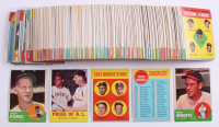 Lot of (200+) 1963 Topps Baseball Cards with #125 Robin Roberts, #446 Whitey Ford, #138 Pride of NL / Willie Mays / Stan Musial
