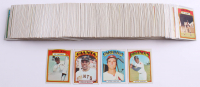 Lot of (400+) 1972 Topps Baseball Cards with #50 Willie Mays In Action, #49 Willie Mays, #420 Steve Carlton, #299 Hank Aaron