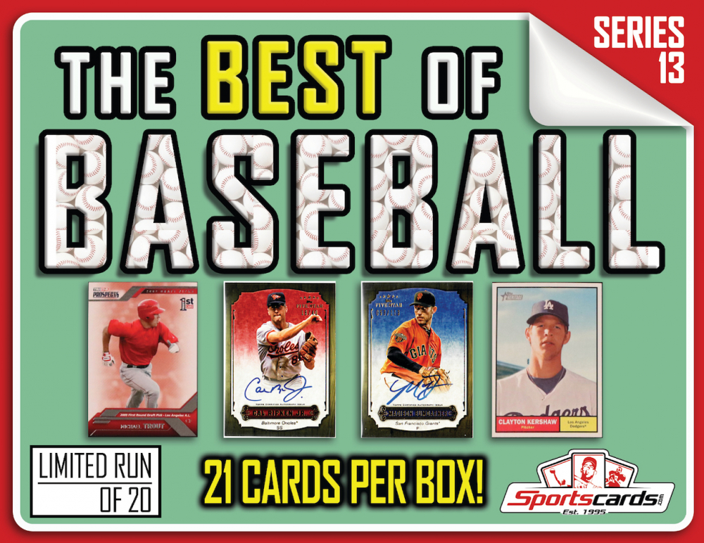 "03f829343e1 ""The Best of Baseball"" Box Series 13 – (21) CARDS PER BOX. """