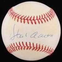 Hank Aaron Signed ONL Baseball (PSA COA)